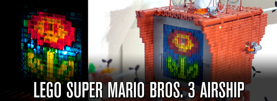 """The Fireflower"" – LEGO Super Mario Bros. 3 Airship Model"
